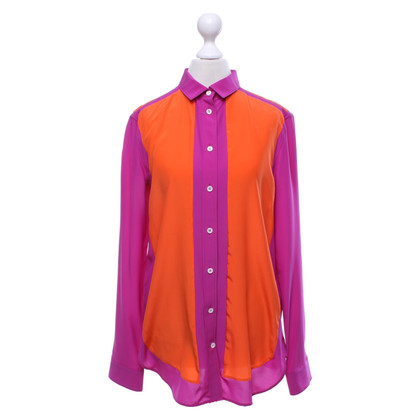 Céline Silk blouse in bicolour