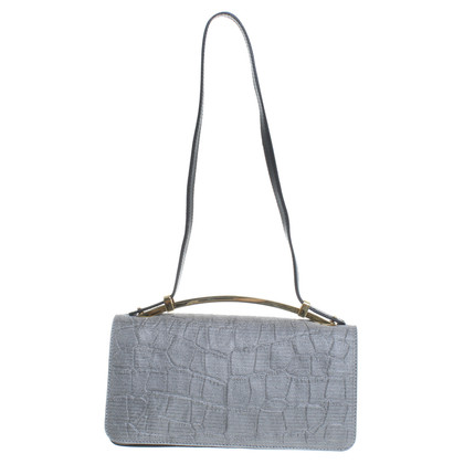 Sebastian Milano  Bag with lettering in a reptilian look