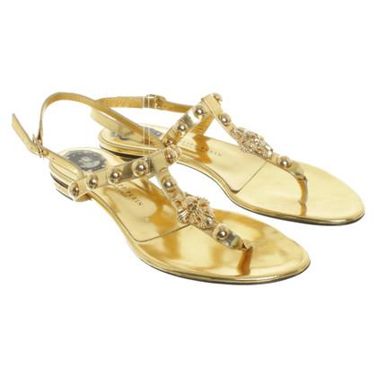 Philipp Plein Sandalen in goud