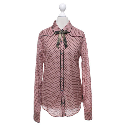 Maison Scotch Patterned blouse with bow