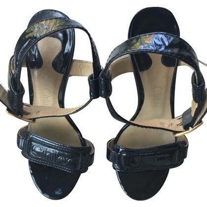 Chloé zwarte lak sandaal