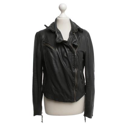 Muubaa Dark gray leather jacket