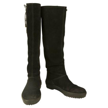 Tod's Schwarze Stiefel