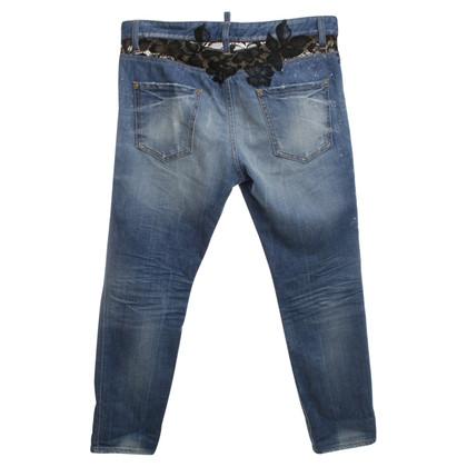 Dsquared2 Jeans con pizzo nero