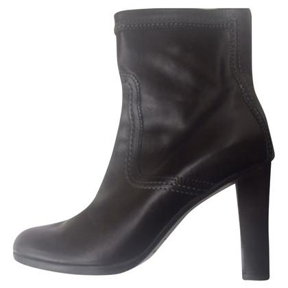Jil Sander stivali di pelle nera
