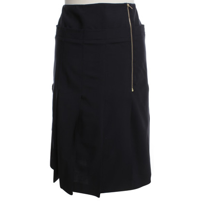 Calvin Klein Pleated skirt in dark blue