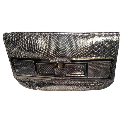 Anya Hindmarch Goldfarbene Lederclutch