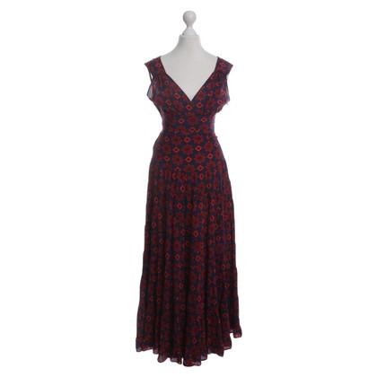 Balenciaga Seidenkleid mit Muster