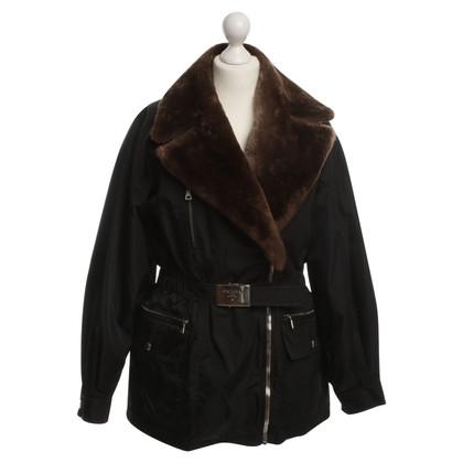 Prada Winter jas met bont kraag