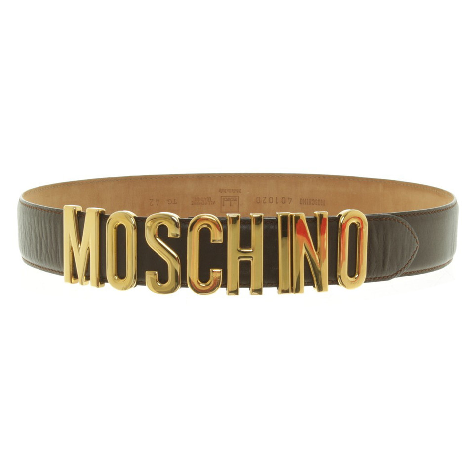 Moschino Belt in dark brown