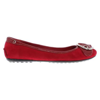 Car Shoe Ballerinas in red