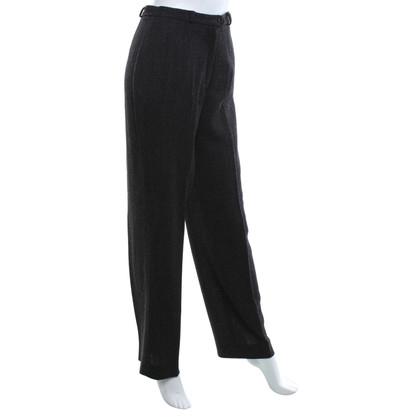 Max Mara pantaloni di lana in bianco / nero