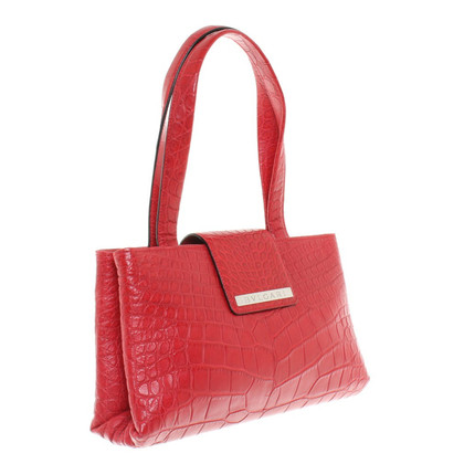 Bulgari Sac à main en cuir de crocodile