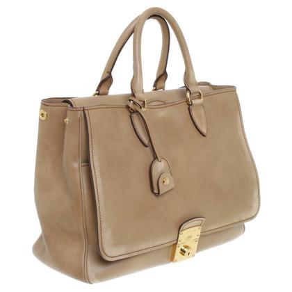 Miu Miu Handtasche in Beige-Braun