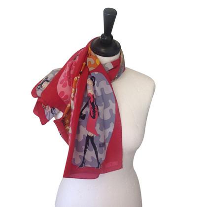 Moschino Dierenriem motief sjaal