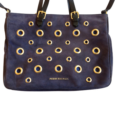 Pierre Balmain Purple suede bag pierre balmain studded