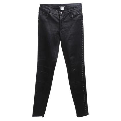 Andere Marke Aphero - Lederhose in Schwarz