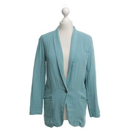 American Vintage Cotton blazer in turquoise