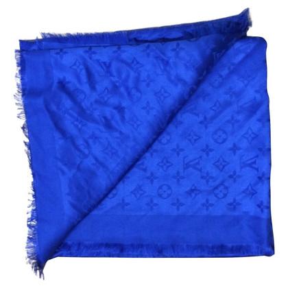 Louis Vuitton Sciarpa del monogramma in blu