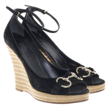 Gucci Wedges in zwart