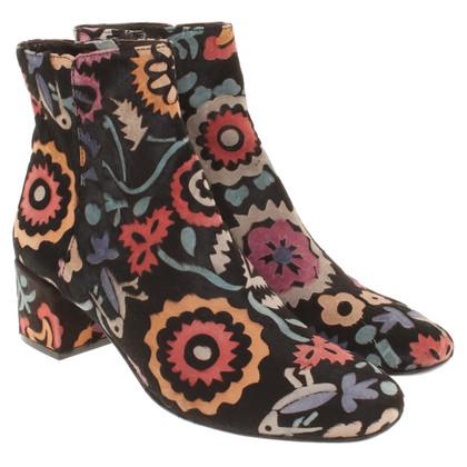 Andere merken AGL - Enkel laarzen met patroon