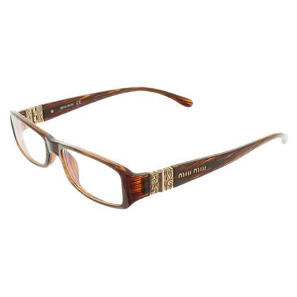 Miu Miu Telaio occhiali con marrone
