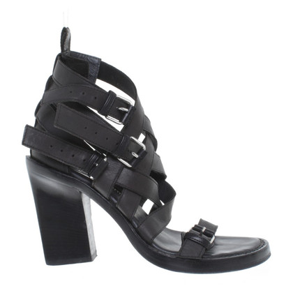 Ann Demeulemeester Sandals in black