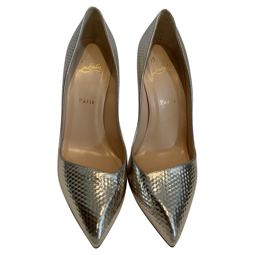 075ec7ed2f6 Christian Louboutin Pumps/Peeptoes Leather in Gold - Second Hand ...