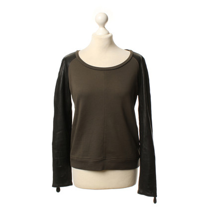 Burberry Sweater with leather sleeves