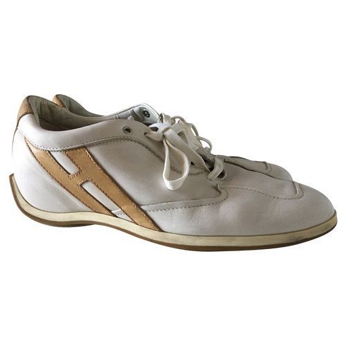 341476286ec Hogan Trainers Leather in White - Second Hand Hogan Trainers Leather ...