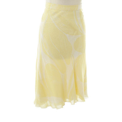 Rena Lange Chiffon skirt in yellow