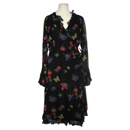 Anna Sui Silk wrap dress