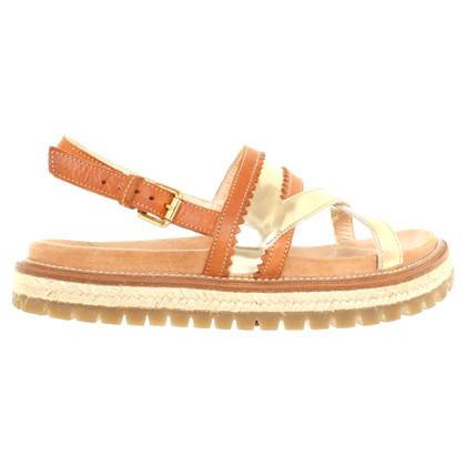 L'autre Chose Leather sandals