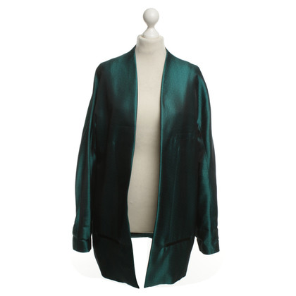 Haider Ackermann Seta Blazer in verde smeraldo