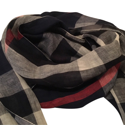 Burberry Linen cloth scarf