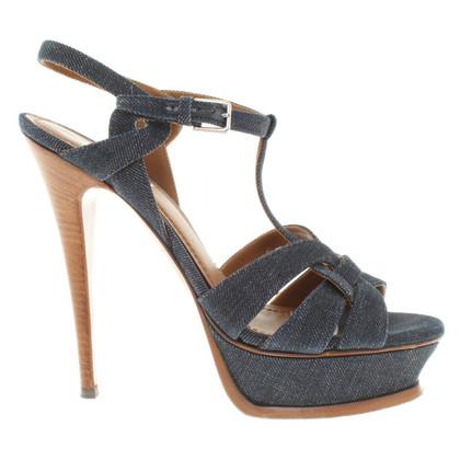 Yves Saint Laurent Sandaletten in Blau