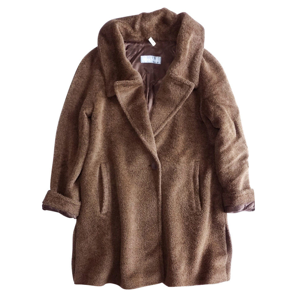 max mara manteau en fausse fourrure marron acheter max mara manteau en fausse fourrure marron. Black Bedroom Furniture Sets. Home Design Ideas