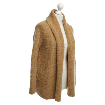 Rich & Royal Structured Cardigan in camel