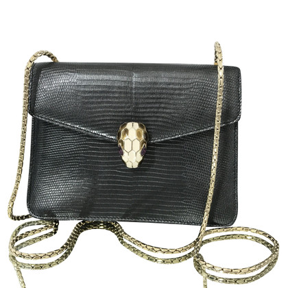 "Bulgari ""Serpenti Flap Bag"" in pelle di lucertola"
