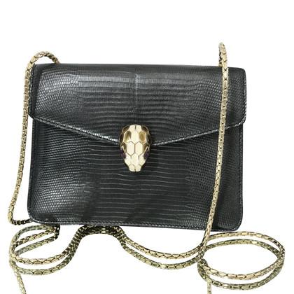 "Bulgari ""Serpenti Flap Bag"" gemaakt van hagedisleer"