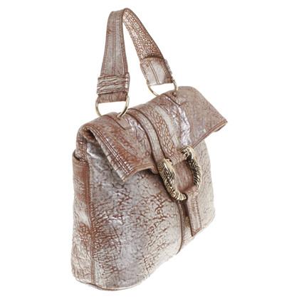 Bulgari Handbag in brown / silver