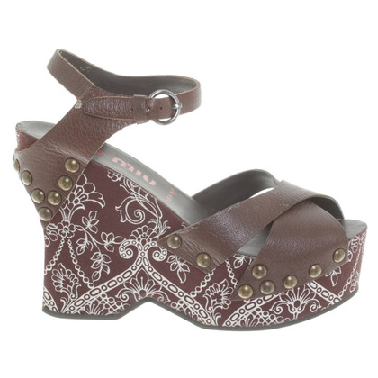 Miu Miu Wedges met patroon