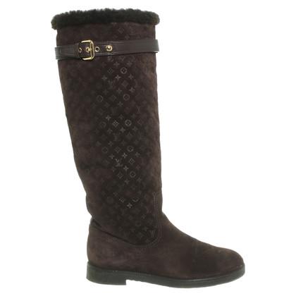 Louis Vuitton Suede laarzen in bruin