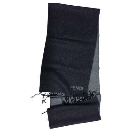 Fendi Schal mit Angora und Logo
