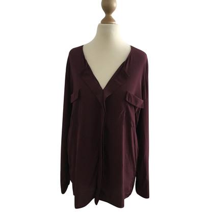 Steffen Schraut Silk blouse in Bordeaux