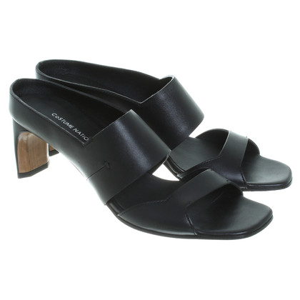 Costume National Leather sandals in black