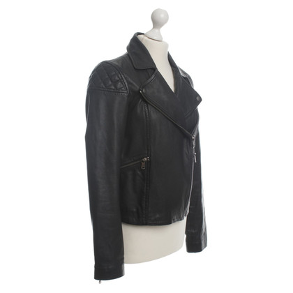 Marc by Marc Jacobs Biker leather jacket in black