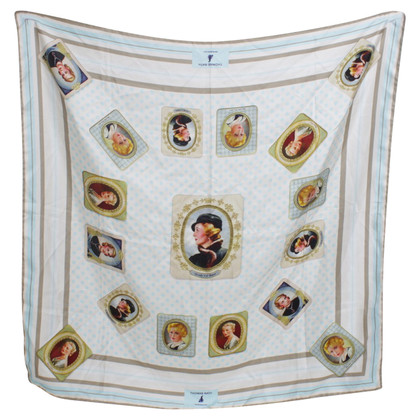 Thomas Rath Silk scarf with motif print