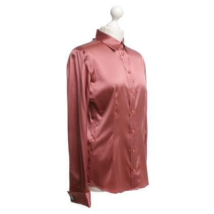 Armani Collezioni Satin blouse in blush pink