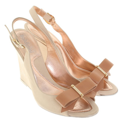 Baldinini Wedges in Beige